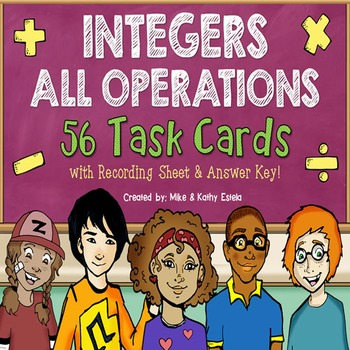 Integer Task Cards {All Operations}