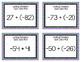 Integer Operations Task Cards - Bundle
