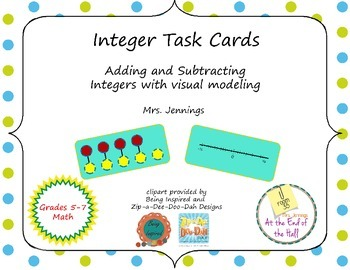 Integer Task Cards with Modeling