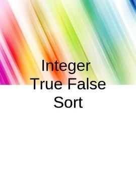 Integer True-False Sort