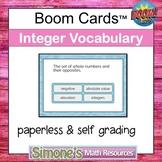 Integer Vocabulary Digital Interactive Boom Cards Distance