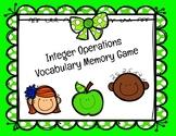 Integer Vocabulary Matching Game