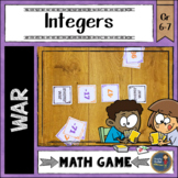 Integers War Card Game