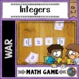 Integers War Card Game