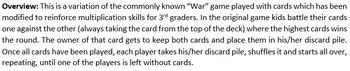 Integer War (Card Game)