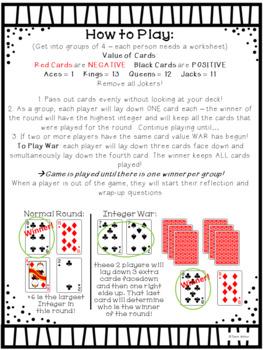 Integer War Card Game