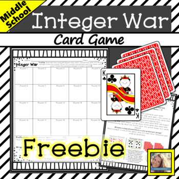 Integer Card Game - FREEBIE