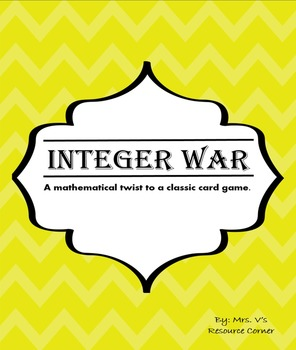 Integer War Cards