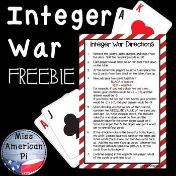 Integer War FREEBIE