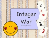 Integer War Card Game for Middle School Math