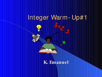 Integer Warm Up#1