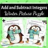 Integer Winter Picture Puzzle | Addition and Subtraction