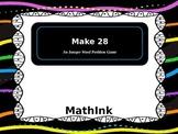 Integer Word Problem Game: Make 28