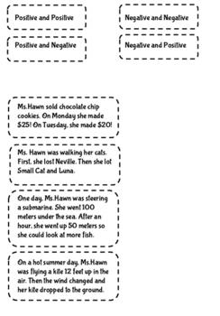 Integer Word Problem Match