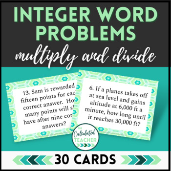 Integer Word Problems   Task Cards   Google Edition   Multiplying and Dividing