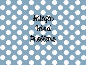 Integer Word Problems
