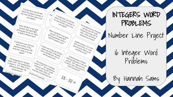 Integer Word Problems Project