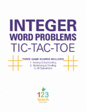 Integer Word Problems Review Activity - Partner Tic Tac Toe