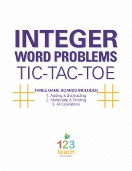 Integer Word Problems Worksheets Teaching Resources Teachers Pay