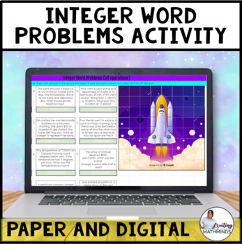 Integer Word problems All operations