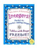Integer Worksheet: Intro to Adding Integers #2