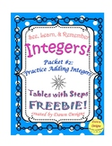 Integer Worksheet: Intro to Adding Integers #2