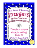 Integer Worksheet: Review Concepts - Add, Subtr, Mult, Div, Order of Operations