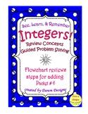 Integer Worksheet: Review Concepts - Add, Subtr, Mult, Div