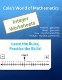 Integer Worksheets