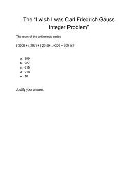 Integer addition problem solving activity