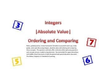 Integer and Absolute Value Mini Unit