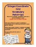 Integer and Coordinate Grid Vocabulary Match-Ups