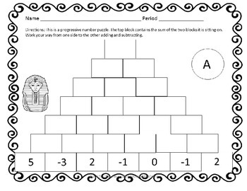 Integer and Decimal Number Pyramid