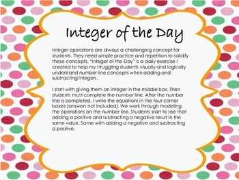 Integer of the Day