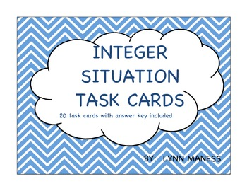 Integer situation Task Cards STAAR review