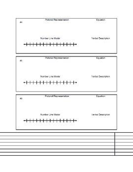 Integers Multiple Representations Worksheet for Algebra