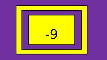 Integers -20 through 20