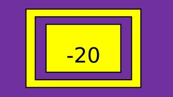 Integers -20 through 20