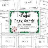 Integer Operations Adding Subtracting Multiplying Dividing Integers Task Cards