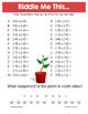Spring Integers Math Riddles Bundle