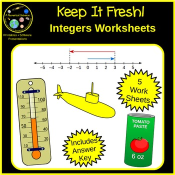 Integers and Integer Arithmetic : Worksheets
