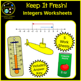 Integers Worksheets with Story Problems