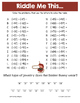 Easter Integers Math Riddles Bundle