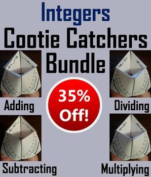 Integers Foldables/ Integers Games/ Integers Practice 5th 6th 7th 8th Grade