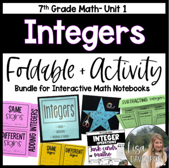 Integers (7th Grade Foldable & Activity Bundle)