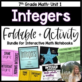 Integers (7th Grade Foldable & Activity Bundle)