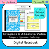 Integers & Absolute Value Digital Notebook - Distance Lear