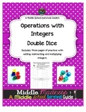 Integers Practice with Double Dice
