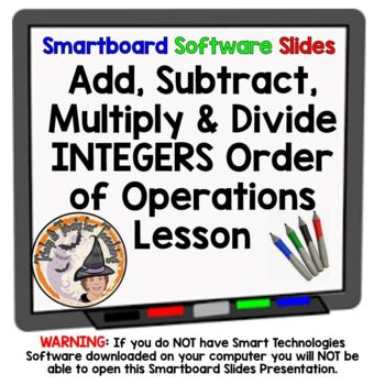 Integers Add, Subtract, Multiply, & Divide Order of Operat
