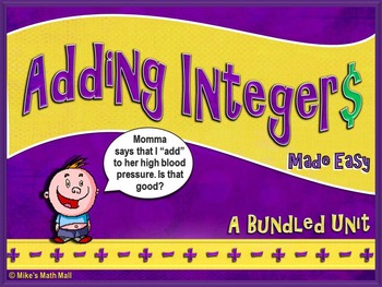 Adding Integers Made Easy (Mini Bundle)